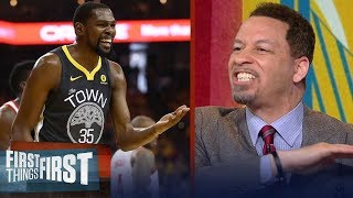 Chris Broussard blames Kevin Durant for failing Warriors in Rockets' win | NBA | FIRST THINGS FIRST