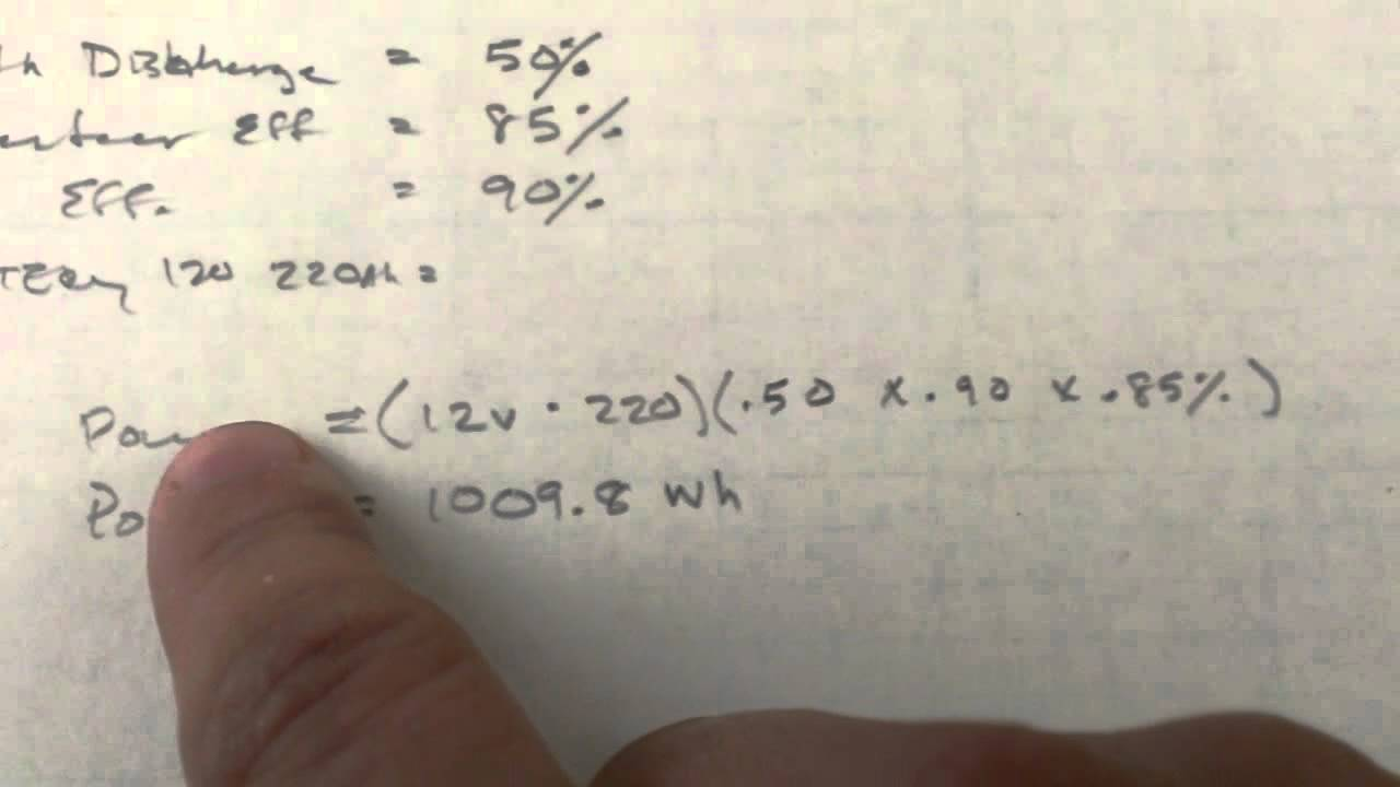 How to calculate battery run-time when design equipment ...