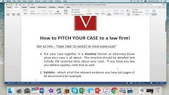 Attorney Steve'S top 10 Tips to getting a law firm to accept your case