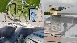 Очистка и покраска военной техники