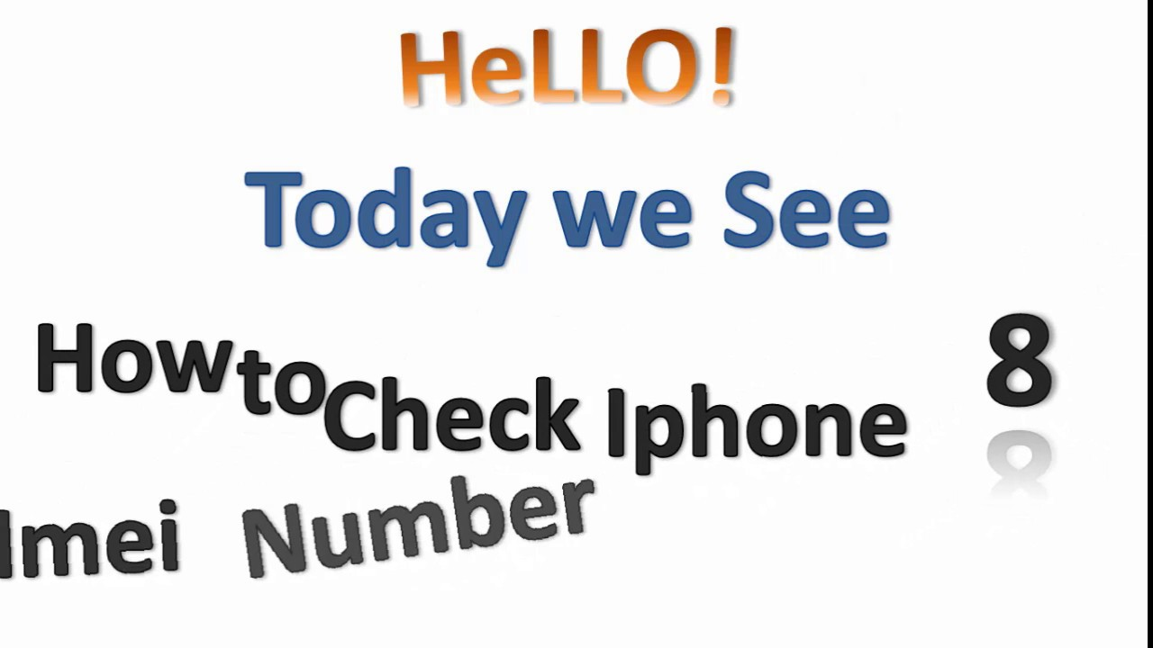 How to Check iphone 8 Imei number