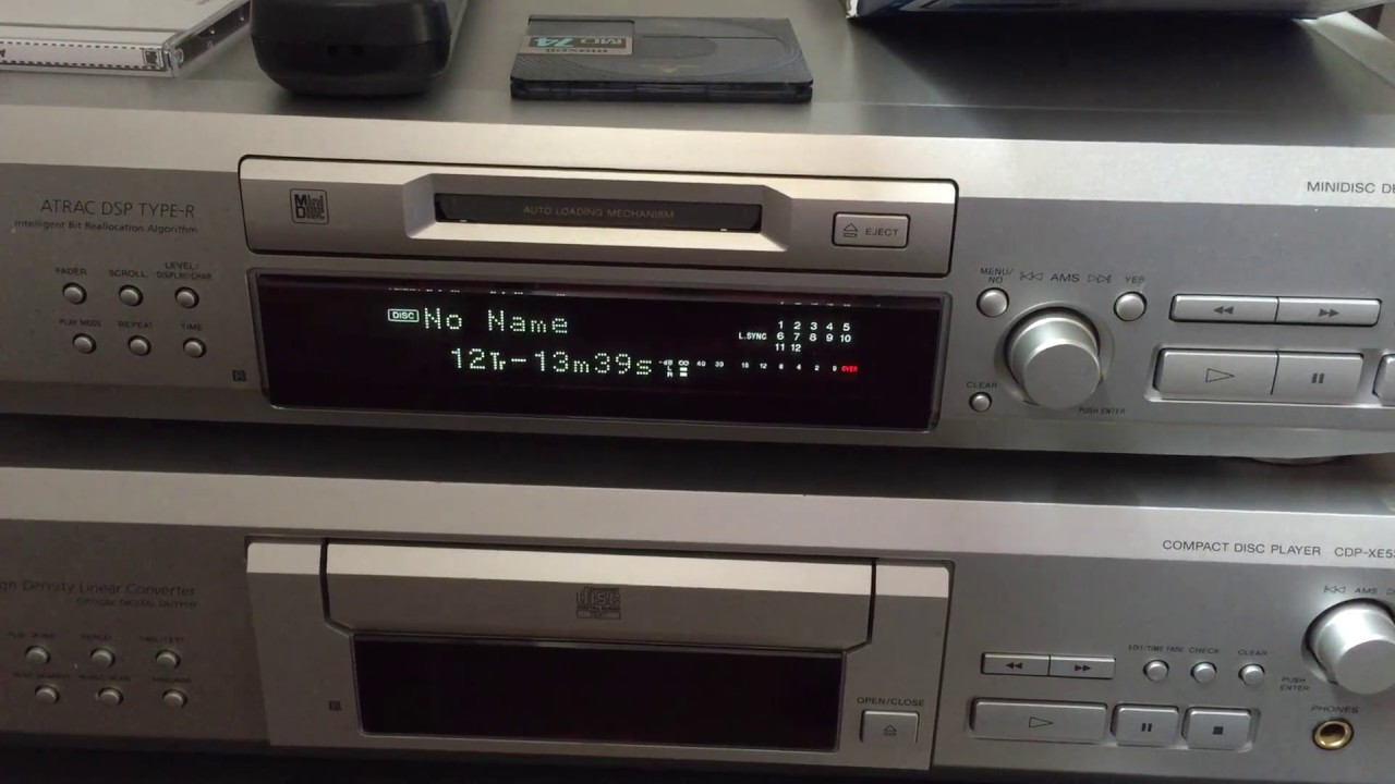 'Hacking' The Sony MDS-JE530 MiniDisc With Arduino / S-Link Protocol