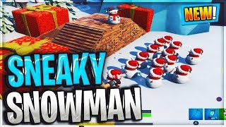 Fortnite Sneaky Snowman GAMEPLAY LEAKED...