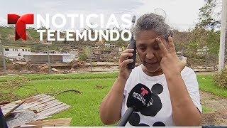 Reportero de Telemundo comunica a damnificada con su familia en EEUU | Noticiero | Telemundo