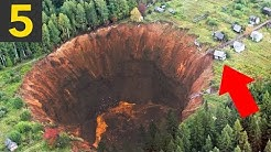 Top 5 Largest Sinkholes Caught on Camera