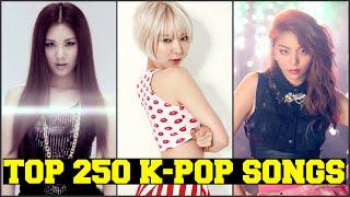 MY TOP 250 FAVORITE K-POP SONGS [PART 4 of 5] FEMALE VERSION