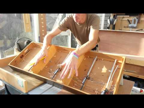 Making baseboards for a scale model railway layout/train set,