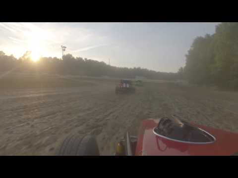 deerfield raceway dwarf car classics heat race 6-18-16