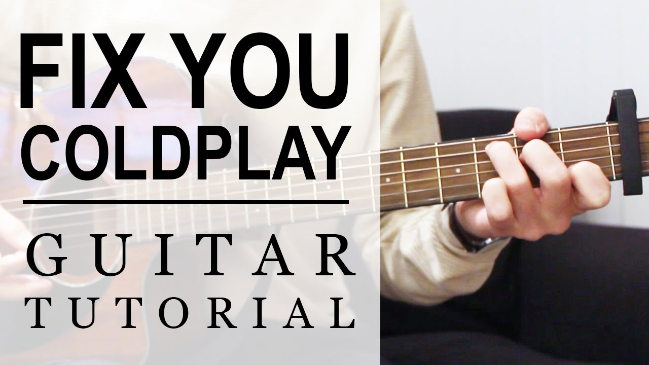 Coldplay Fix You Fast Guitar Tutorial Easy Chords Youtube