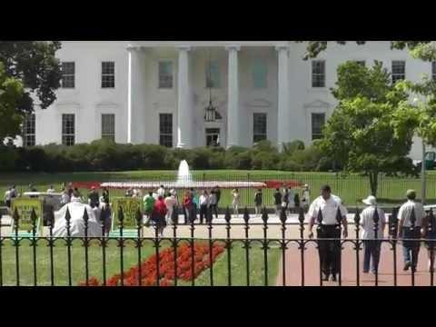 Washington: Am Weissen Haus. At the White House I saw Barack Obama