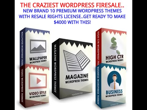 CRAZY WP FIRESALE REVIEW – 9 NEW PREMIUM WP THEMES WITH PLR BY AHMAD ...