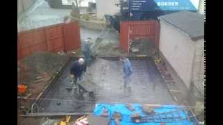 Pouring A Concrete Raft Foundation
