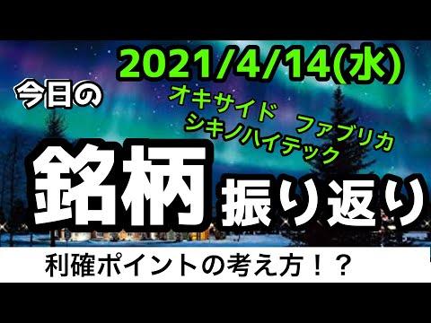 【相場振り返りシリーズ#163】2021年4月14日(水)~利確ポイントを考えよう!?~