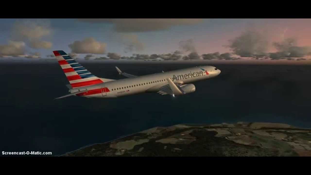 Fsx American Airlines 737 800 Departure From Cayman Brac