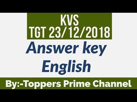 Kvs tgt answer key| kvs computer answer key| kvs 2018 tgt