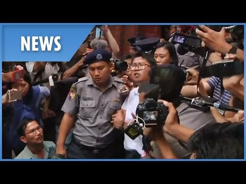 Two Reuters journalists jailed for seven years in Myanmar