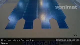 Corte de prepreg de fibra de carbono y fibra de vidrio por ultrasonidos SONIMAT