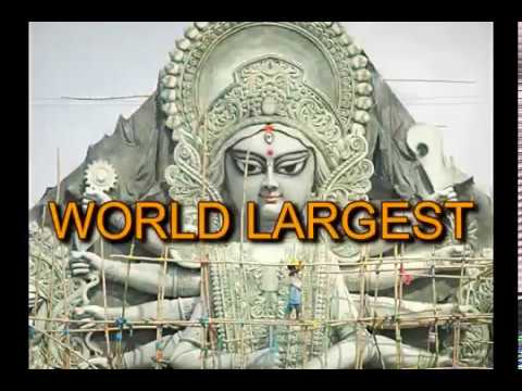 Deshapriya Park WORLD LARGEST DURGA MAKING (88ft high & 80ft wide)