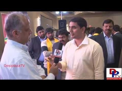 Nara Lokesh giving interview to Desiplaza TV in Dallas,Texas