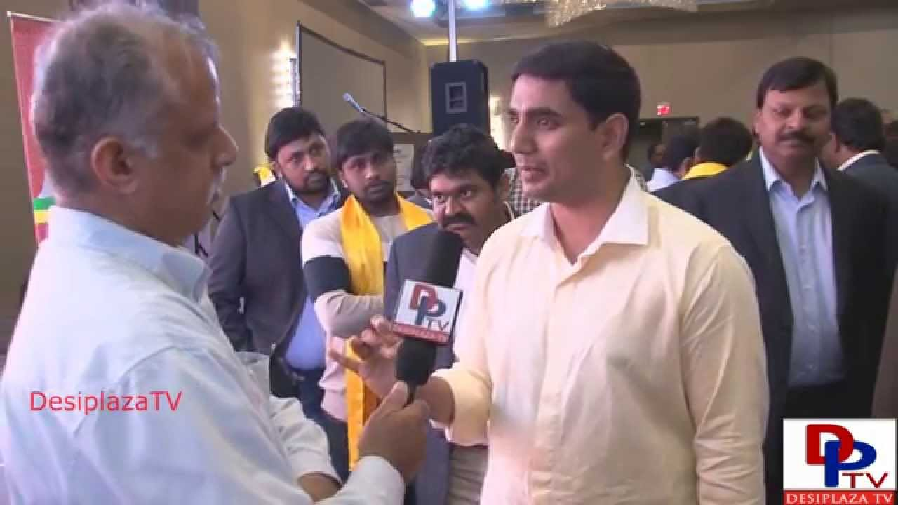 Nara Lokesh giving interview to Desiplaza TV in Dallas,Texas