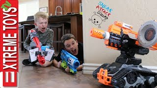 Evil Drone Vs. Sneak Attack Squad! Ethan and Cole get in to a Nerf Battle with a Crazy Robot