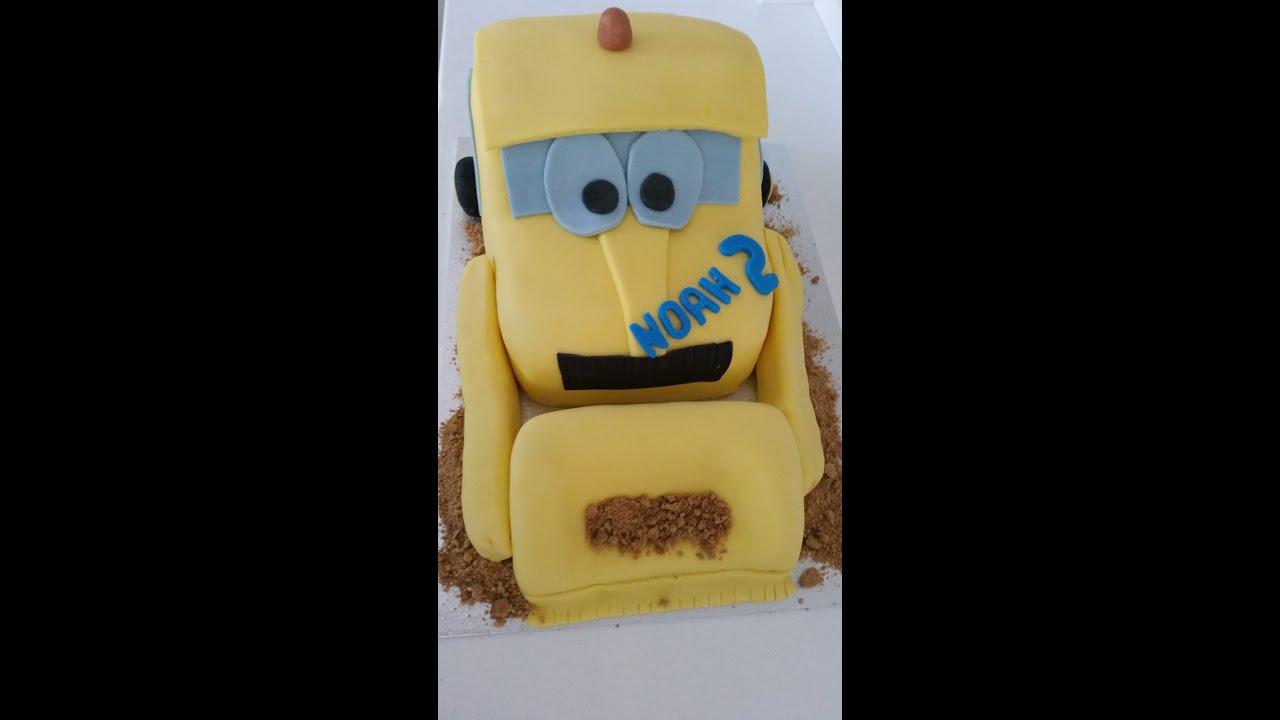 fondant bagger torte excavator cake tutorial youtube