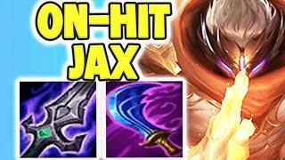 STOP BUILDING JAX WRONG! ON-HIT STRĄTEGY ON JAX IS 100% TOO OP! JAX TOP GAMEPLAY! League of Legends