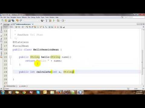 Enterprise Application With EJB In NetBeans