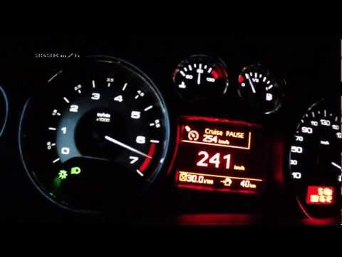 Peugeot RCZ 2013 1,6 THP 200 acceleration 0 235 km h
