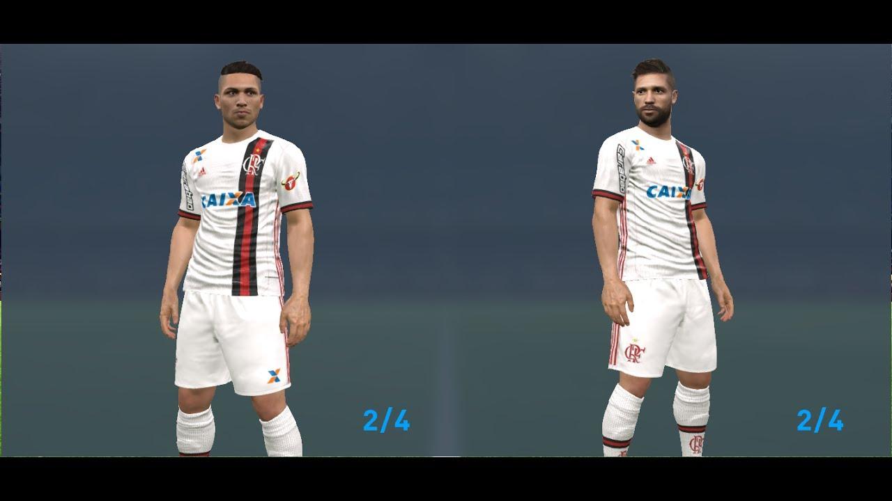 c9837ae9b7ea0 Novo uniforme Kit 2 Flamengo 17 - 18 - PES 2017 - YouTube
