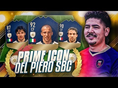NEW PRIME 92 ICON DEL PIERO SBC COMPLETED! FIFA 18 ULTIMATE TEAM