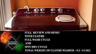 full demo lg p1515r3sa 9 5 kg semi automatic top loading washing machine