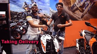 2017 KTM Duke 200 White | Taking Delivery | Mumbai, India