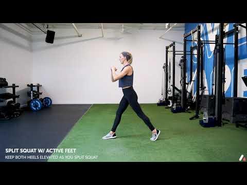 Split Squat w: Active Feet