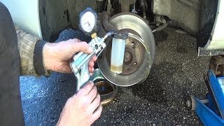 Brake bleeding with a Mityvac vacuum pump step by step