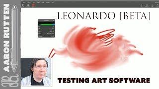 Testing LEONARDO BETA Digital Art Software
