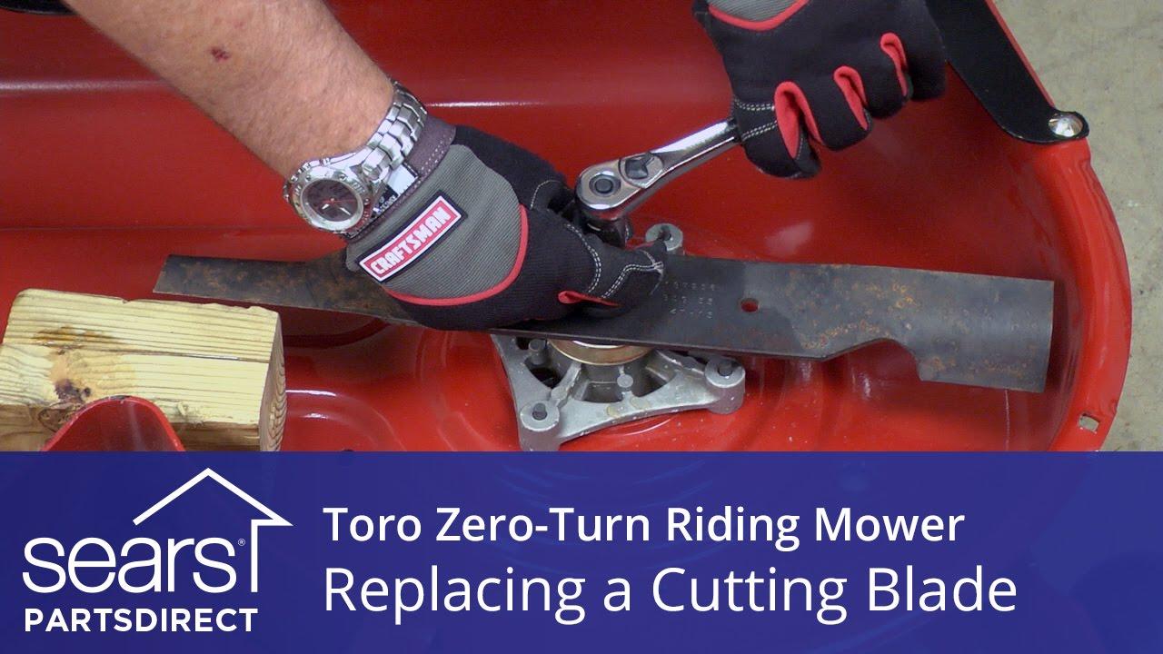 How to Replace a Toro Zero-Turn Riding Mower Cutting Blade