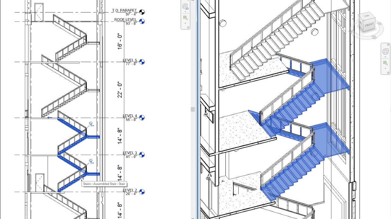 revit 2018 new feature multistory stairs autodesk building solutions [ 1280 x 720 Pixel ]
