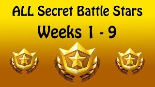 ALL Fortnite Saison 7 Secret Battle Stars Semaines 1-9 'Snowfall Challenges'