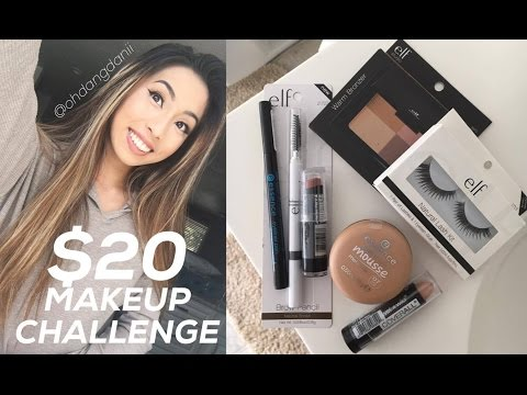 $20 DOLLAR MAKEUP CHALLENGE!!! Tutorial + Vlog & Haul! (21.75) // @ohdangdanii