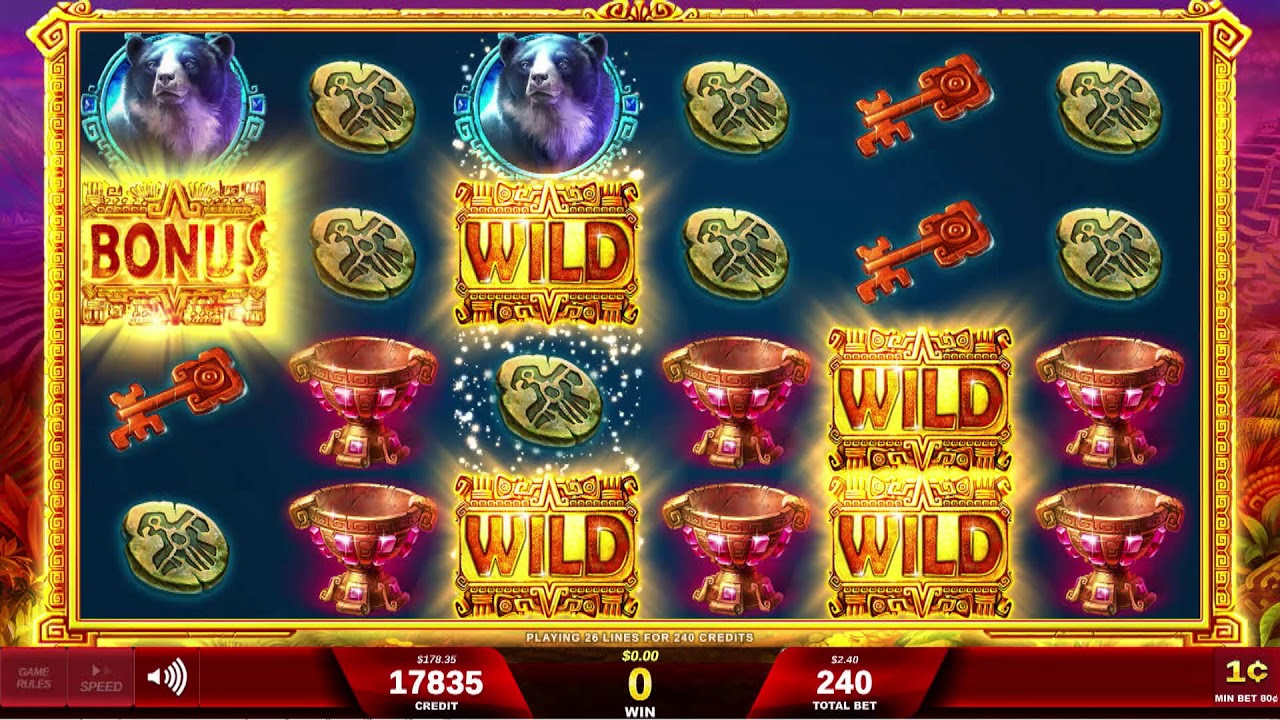 Red white and blue slot machine