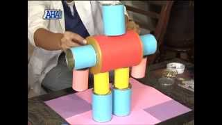 How to make DIY robots made out of recyclable materials   AHA!