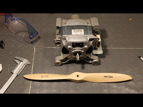 Building a Ducted Propeller with a Washing Machine Motor