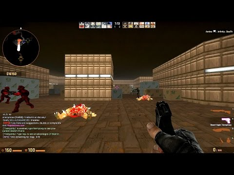 Counter-Strike Global Offensive: Zombie Escape - ze_DOOM_p2 (Level 2 - NRF Living) on Mapeadores