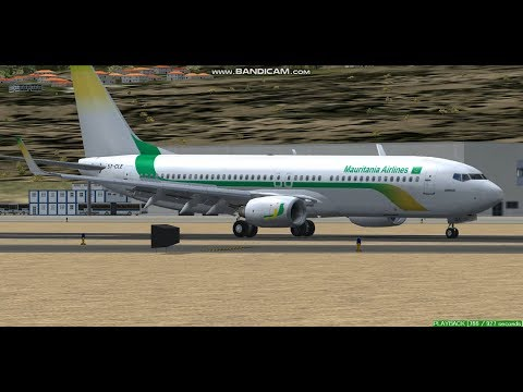 Mauritania Airlines B737  Gran Canaria Airport GCLP  Landing  FS9