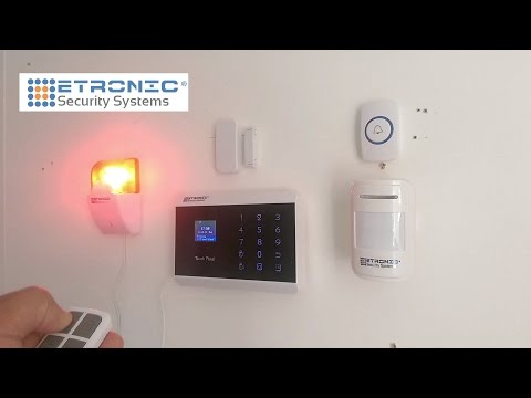 Wireless Home Office Burglar robbery emergency Alarm System with Smartphone App LED