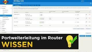 Portweiterleitung im Router - Beispiel für Spiele und Überwachungskameras (Fritzbox)