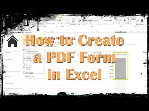 insert pdf file into excel