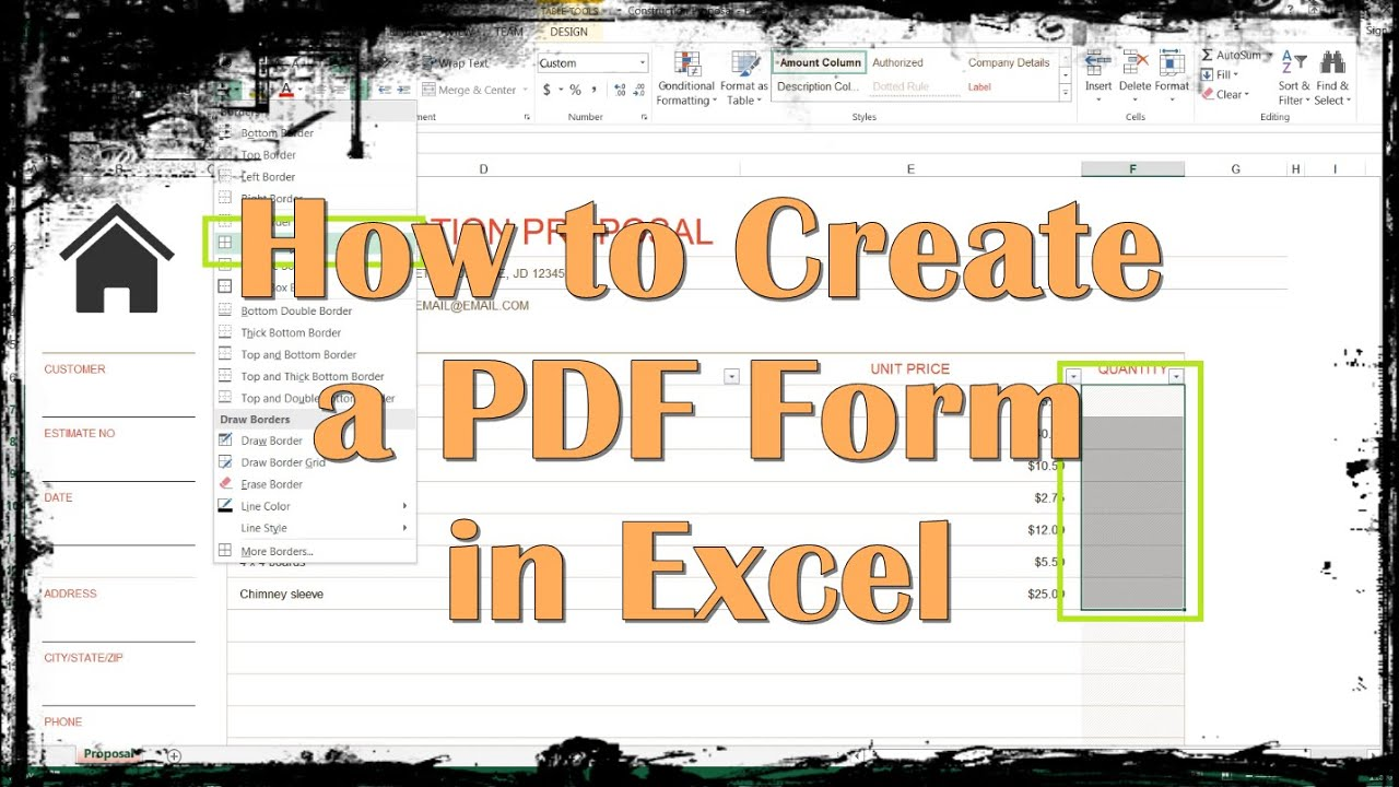 How to Create a PDF Form in Excel - YouTube