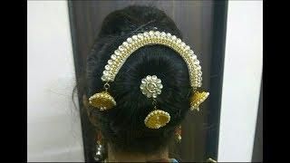 Bridal Hair Accessory - Bahubali Inspired Hair Accessory   Easy Tutorial   Hair Brooch